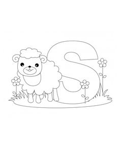 Letter S Coloring Page is part of Coloring letters - Coloring Letters, Alphabet Coloring Pages, Printable Coloring Pages, Coloring Sheets, Coloring Books, Alphabet Phonics, Alphabet Letters, Alphabet And Numbers, Embroidery Fonts