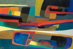 Faverdines Artist: Maurice Esteve Completion Date: 1955 Style: Art Informel Genre: abstract