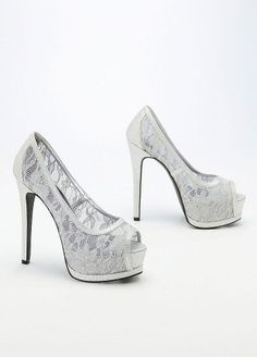 Shell and Nita..this a Bad Shoe 2!! David's Bridal Wedding & Bridesmaid Shoes Glitter Lace Peep Toe Double... David's Bridal,http://www.amazon.com