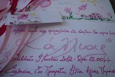 Handwritten Invitations for your little girl Baptism Baptism Invitations, Christening, Pink Color, Your Child, Hand Lettering, Little Girls, Joy, Toddler Girls, Handwriting