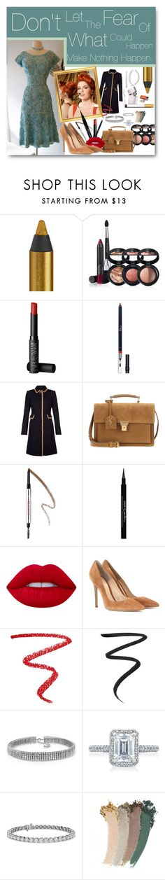 """""""Meeting Michael/Attacked - Valentina 1961."""" by rebeccaelizabethmattox ❤ liked on Polyvore featuring Urban Decay, Laura Geller, NARS Cosmetics, Christian Dior, Hobbs, Yves Saint Laurent, Benefit, Givenchy, Lime Crime and Gianvito Rossi"""