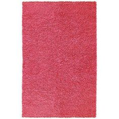 St. Croix Trading Company Pink Chenille Shag foot Area Rug - 4' x 6'