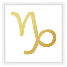 Check out this item at One Kings Lane! Capricorn Sign, Gold