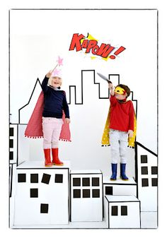 KAPOW! Superhero city backdrop  So in heart with...: Lula by Emma Superhero's!