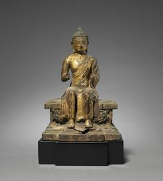 Figure of a Maitreya on a Tiered Pedestal, 1100s-1200s Nepal, 12th-13th century