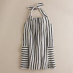 silk sailor-stripe halter dress jcrew