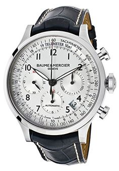 Men's Wrist Watches - Baume  Mercier Mens MOA10063 Automatic Stainless Steel Silver Dial Watch ** You can find more details by visiting the image link. (This is an Amazon affiliate link)
