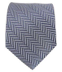 Native Herringbone - Navy | Ties, Bow Ties, and Pocket Squares | The Tie Bar