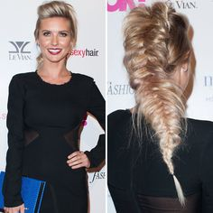 Audrina Patridge rocked this crazy Elsa on crack inspired braid! What do you think of her 'do | toofab.com