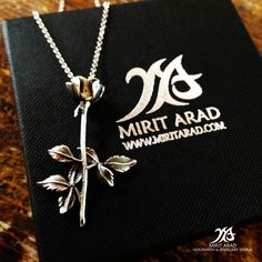 "Depeche Mode ""Violator"" 360 Rose sterling silver pendant. Handmade by Mirit Arad. LittleTreasuresByMir.etsy.com"