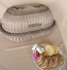 """Купить Хлебница овальная """"Семейная"""" - коричневый, хлебница ручной работы, хлебница плетеная"""