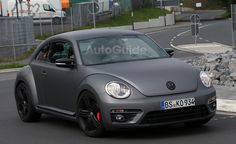 Volkswagen Beetle R Mule Spied Testing. For more, click http://www.autoguide.com/auto-news/2013/10/volkswagen-beetle-r-mule-spied-testing.html