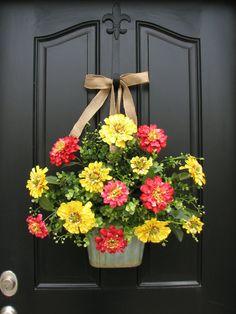 Alternative to a tradtional round wreath