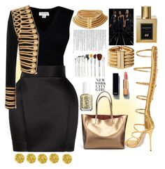 """""""10 seconds of fame"""" by bartivana ❤ liked on Polyvore featuring Velvet by Graham & Spencer, Balmain, Giuseppe Zanotti, Chanel, Essie and Anna Sui"""