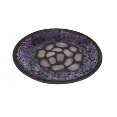 Candle Plate - Purple Pebbles