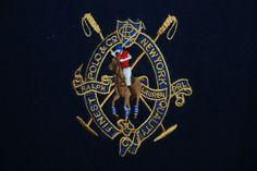 Ralph Lauren Polo New York Big Pony Mens Full Zip Sweat Jacket XL Blue Funnel