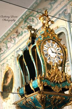 French Clock inside the Palace of Versailles by BrittanyLouiseShop, $15.00