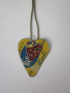 Tin Jewelry Layered Hearts Garden and Graphics by TheMadCutter, $27.00