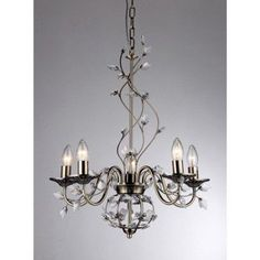 Warehouse of Tiffany Charlotte 5-light Bronze 20-inch Crystal Branches Chandelier