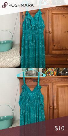 Cute blueish green long dress Long dress Dresses