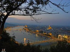 views from Gellert Hill, Budapest, Hungary