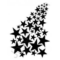 cartoon black and white starry star free clip art vinyl ideas