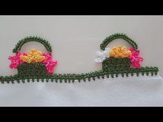 Yalancı Iğne Oyası Sepette çiçek Yapımı