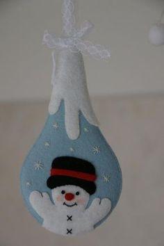 Frosty felt snowman ornament