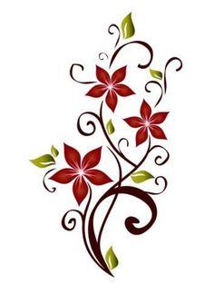 Una nota de color Hip Tattoos For Girls, Tattoos For Women Flowers, Foot Tattoos For Women, Flower Tattoo Foot, Flower Tattoo Designs, Flower Tattoos, Trendy Tattoos, Cool Tattoos, Vine Tattoos