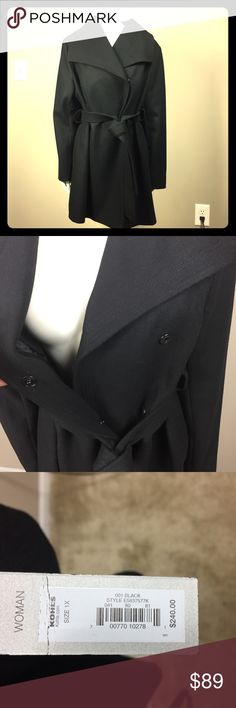 Apt. 9 Black Pea Coat w/ belt size 1X $250 NWT This is an authentic women's apt. 9 pea coat size 1X. It has a belt that wraps around the middle of the coat with three loops. It is new with tags and was originally 250$. This is a heavy coat, lined on the inside with a slick polyester. Has buttons to keep the coat closed and keep you warm. Measurements: (arm length: 24in) (bust: 25in) (length: 32in) Apt. 9 Jackets & Coats Pea Coats