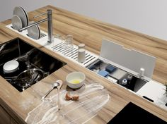 Download the catalogue and request prices of Easyrack kitchen flat   cleaning holder By domusomnia, kitchen equipped track, easyrack kitchen flat Collection