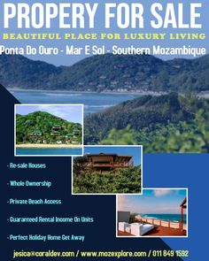 Property For Sale In Lovely Ponta Do Ouro - Mar E Sol Complex - Southern Mozambique   Invest in your offshore holiday home now!   Beautiful Place For Luxury Living I always say  Contact : All Details on the Add