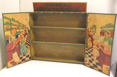 Old 1930s Tin Childs General Store - Grocery Toy w/shelves by Wolverine