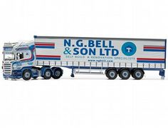 The Corgi Scania R Curtainside, N G Bell & Son Ltd, Newtownards, Northern Ireland is a diecast model truck in 1/50 scale from the Corgi Hauliers Of Renown range.