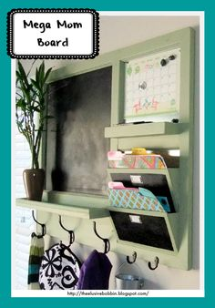 ~ Mega Mom Board ~ Do It Yourself Home Projects from Ana White. Need this in the garage by the door coming in the house. Do It Yourself Furniture, Do It Yourself Home, Diy Furniture, Furniture Plans, Family Command Center, Command Centers, Do It Yourself Inspiration, Wall Organization, Wall Mail Organizer