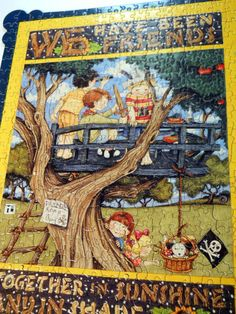 Mary Engelbreit Puzzle We Have Been Friends Together Sunshine Shade Cork Back