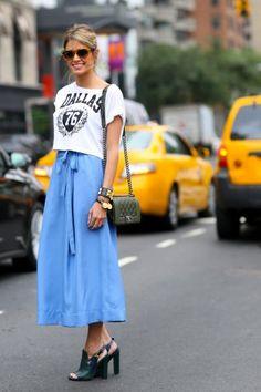 26 idées pour porter la jupe midi - Marie Claire