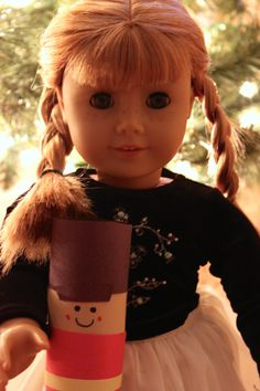 Our doll Hannah played with her nutcracker!