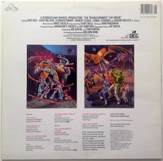The Transformers The Movie Soundtrack LP Vinyl by ThisVinylLife