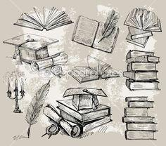 Books stack — Stock Illustration #7238216