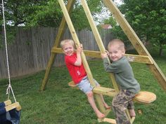 DIY Project Crazy: Wood See-Saw Swing