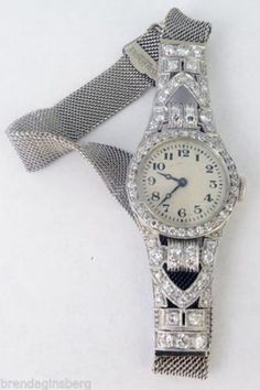 Antique-Art-Deco-Watch-Platinum-Gold-Diamonds-V-Fine-Ladies-Watch-C1921-5330