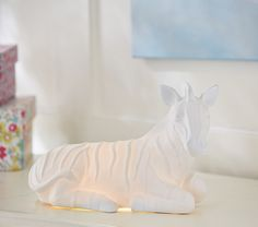 Jenni Kayne Glowing Zebra Lamp | Pottery Barn Kids