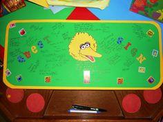 Seasame Street theme Guest Book Sesame Street Party, Sesame Street Birthday, Birthday Ideas, Birthday Parties, Elmo, First Birthdays, Party Ideas, Book, Anniversary Ideas