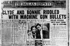 Image result for bonnie and clyde newspaper articles