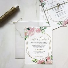 This picture is not showing how perfect, elegant, and simply a delight is this invitation suite . Pocket Invitation, Invitation Envelopes, Floral Invitation, Invitation Suite, Elegant Invitations, Custom Wedding Invitations, Wedding Stationary, Black Envelopes, Watercolor Invitations