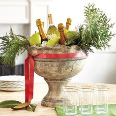 Fun and Elegant Way to Chill and Display Champagne - The Enchanted Home