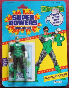 Green Lantern – Action Figure - Super Powers Collection - Kenner 1984 NIP