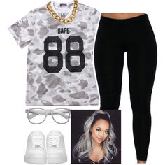 A fashion look from February 2016 by trillest-queen featuring NIKE