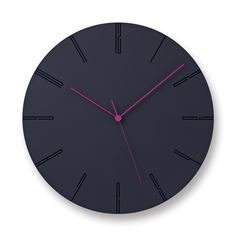 'carved ll' wall clock designed by naoki terada for lemnos